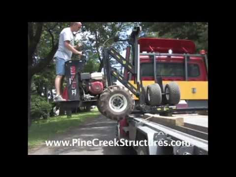 Pine Creek Structures Shed Mule Delivery
