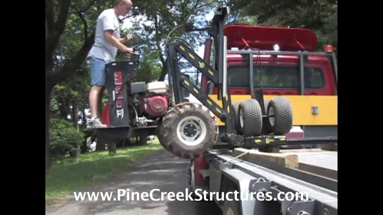 Pine Creek Structures Shed Mule Delivery   YouTube