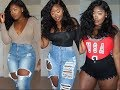 Curvy/Thick Girl Try-on Haul JEANS ONLY XL-3XL ft. Monotiques.com