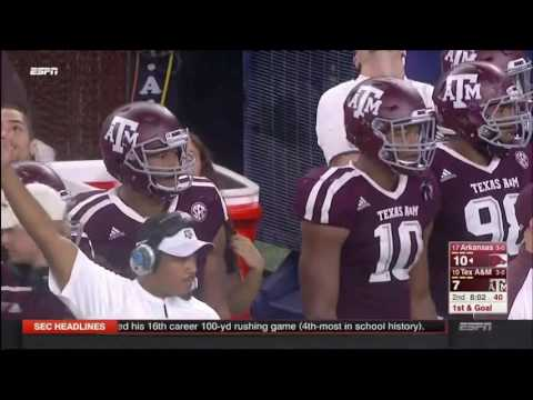 Texas A&M vs Arkansas no-huddle 2016