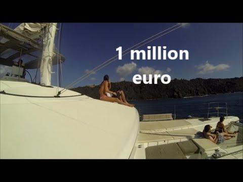 1 MILLION EURO BOAT LOOK LIKE IN SANTORINI GREECE