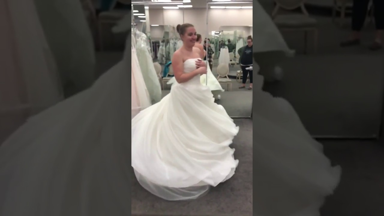 ba7c9ee0c548 White by Vera Wang Textured Organza Wedding Dress VW351178 - YouTube