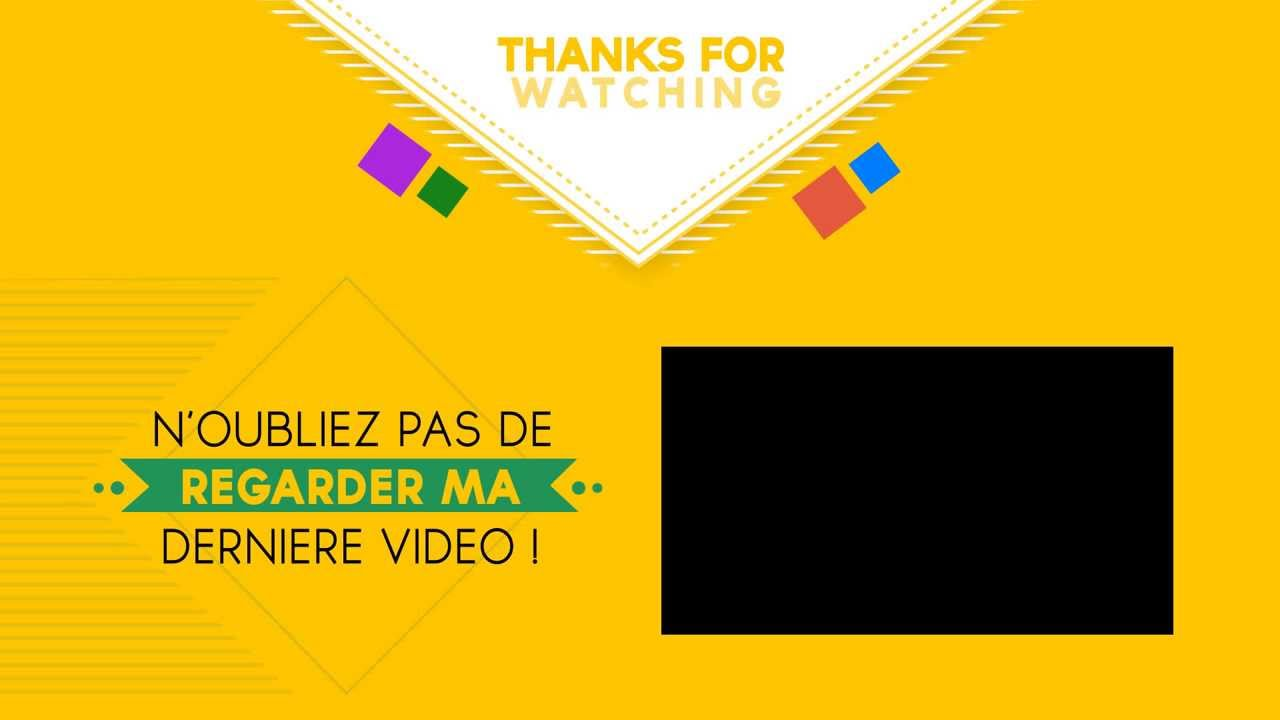 Free Outro Template 2d By Tixdesign Youtube