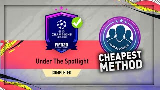 FIFA 20: UNDER THE SPOTLIGHT SBC!! (CHEAPEST METHOD)