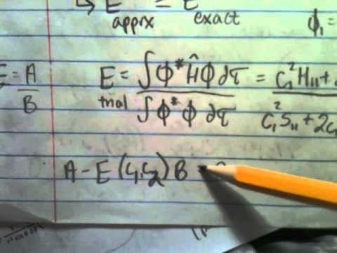 P Chem Hamiltonian in Atomic Units, Determinants, Variational Principle-8