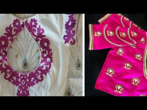 Simple Thread Work Blouse Designs For Beautiful All Womens Blouse Thread Work Simple Thread Work Youtube,Simple Wedding Cake Designs