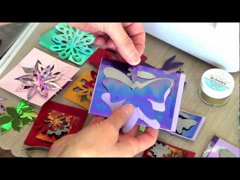 How to cut Shimmer Sheetz using the Elizabeth Craft Designs Dies