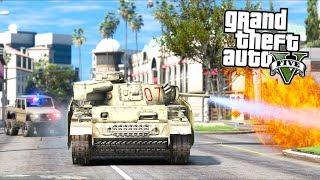 GTA 5 - Evade Ep36 - Flamethrower Tank Hijacking!!