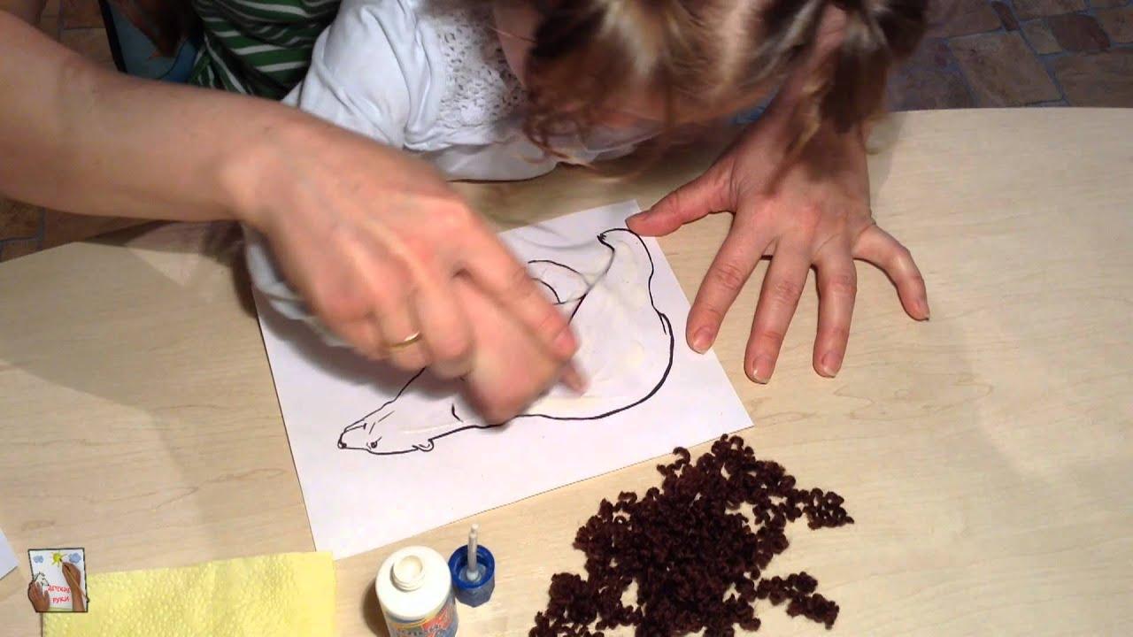 Как сделать мишку из ниток фото 531