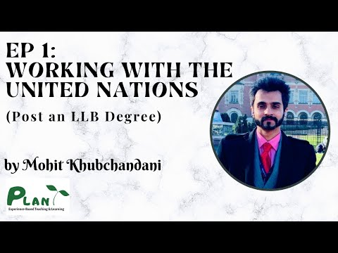 Ep 1 - Working with the United Nations (Post an LLB)