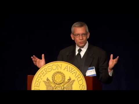 Craig Lindvahl, The Journal Gazette - IL at 2013 National Jefferson Awards in Washington, DC