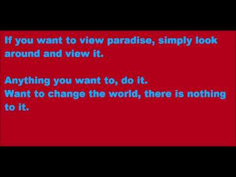 Willy Wonka - Pure Imagination: Lyrics