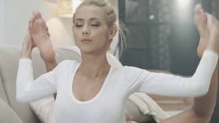 Hot Yoga Girl Veronica Leal Stretching out at morning