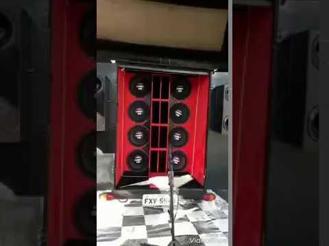 Carretinha com 8 alto falante r-sound combat e modulo taramps no rta
