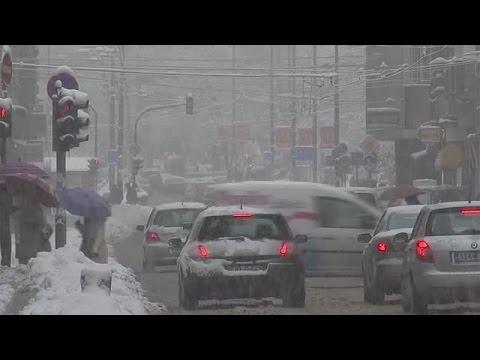 Heavy snowfall  in Bosnia and Kossovo