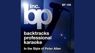 Don't Cry Out Loud (Karaoke Instrumental Track) (In the Style of Peter Allen)
