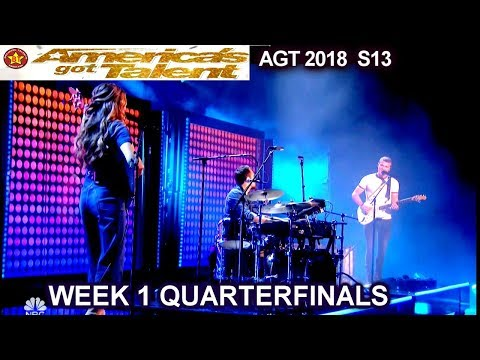 We Three sings So They Say original song Quarterfinals 1 America's Got Talent 2018 AGT