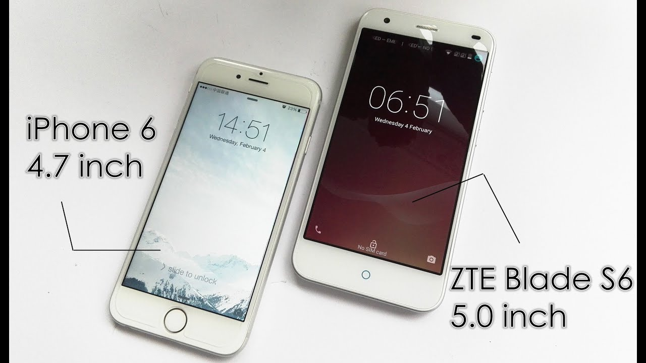 zte blade s6 vs iphone 6 hands on review 250 for. Black Bedroom Furniture Sets. Home Design Ideas