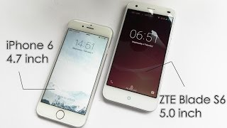 【ZTE Blade S6 vs iPhone 6】 Hands on review. $250 For iPhone 6 Dupe