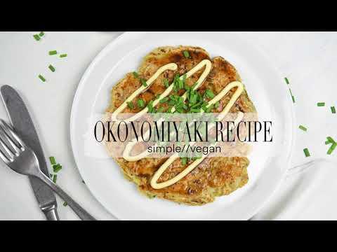 VEGAN OKONOMIYAKI RECIPE//SIMPLE AND DELICIOUS