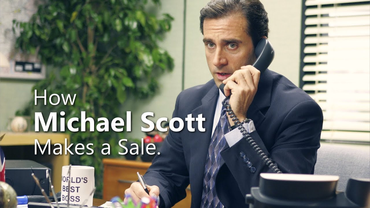 The office how michael scott makes a sale youtube - Michael scott wallpaper ...