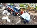 PULLING a TENT TRAILER in the Backyard Scale Trail Park - Team Raffee | RC ADVENTURES