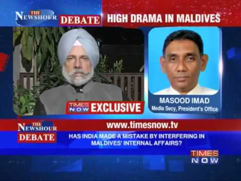 The Newshour Debate: Should India take sides in Maldives Crisis? (The Full Debate)