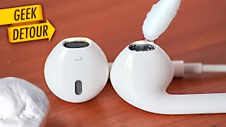 How to Clean EarPods/Apple #AirPods: remove wax cleaning your earphones/earbuds safely - easy!