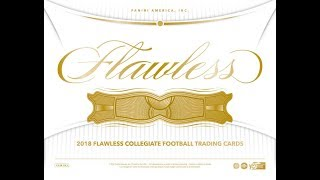 2018 Flawless Collegiate Football   Full Case PYT 001   BEST CASE EVER