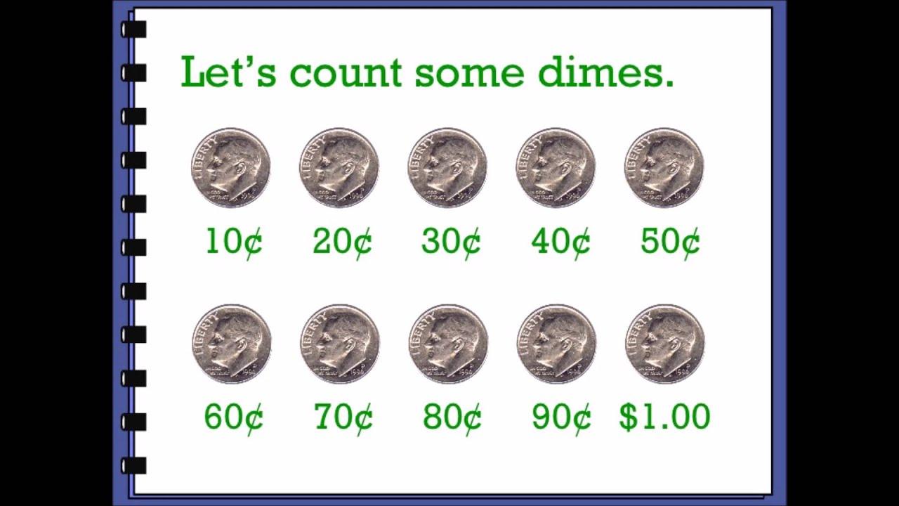 Grade 2 math worksheet - Counting pennies, nickels, dimes ...