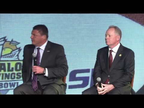 Ed Orgeron and Bobby Petrino Preview the Buffalo Wild Wings Citrus Bowl