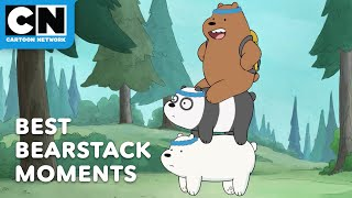 Best Bearstack Moments | We Bare Bears | Cartoon Network