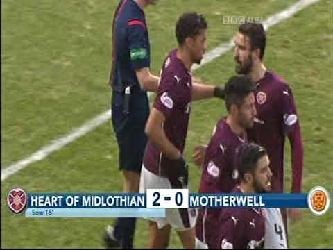 Hearts Fc 6 v 0 Motherwell 2016