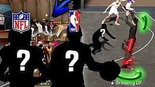 NFL Player & NBA Star VIP'd Grinding DF and CHALLENGED my Demi-God Rebirth Build on NBA 2K19