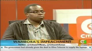 Citizen Weekend Interviews: Martin Wambora's Impeachment