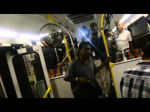 Fight on Metro bus - Guy fight's the wrong person