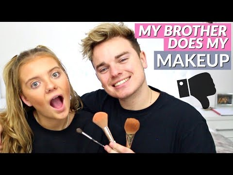 MY BROTHER DOES MY MAKEUP ft JACK MAYNARD