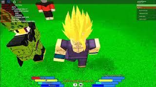 avançada batalha Roblox confronto célula como Gohan