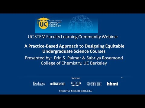 A Practice-Based Approach to Designing Equitable Undergraduate Science Courses
