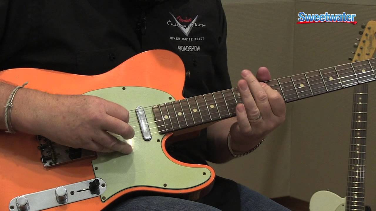 Fender Custom Shop 1963 Relic Telecaster Electric Guitar Demo