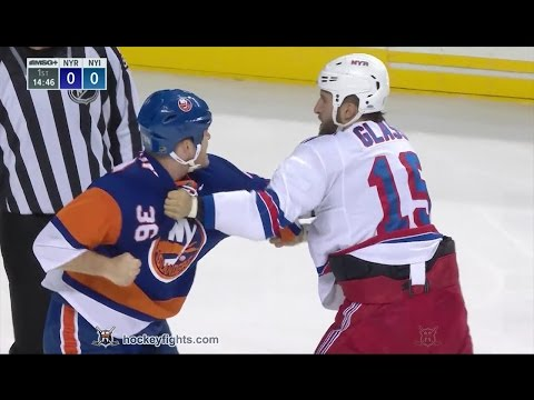 Tanner Glass vs Eric Boulton Oct 4, 2016