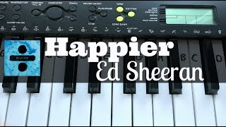 Happier - Ed Sheeran | Easy Keyboard Tutorial With Notes (Right Hand)
