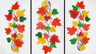 Awesome wall hanging with art paper || Autumn Leaf,Artificial Leaf