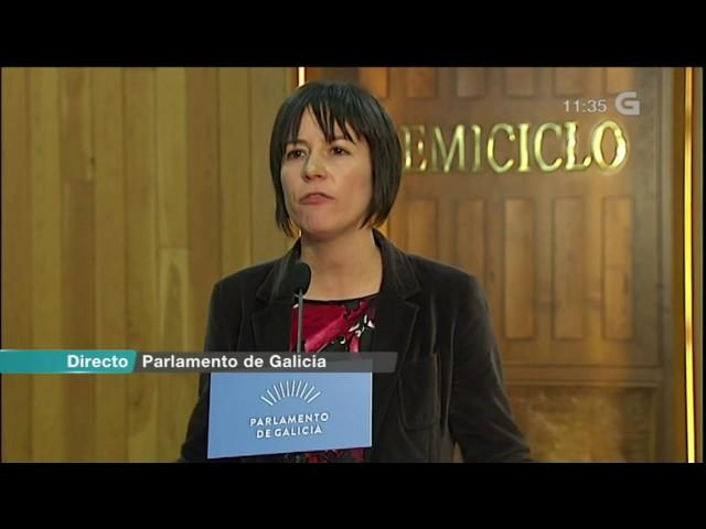 """Ana Pontón: """"Feijóo fixo un discurso continuista, inmobilista... que deixa a Galiza sen esperanza."""""""