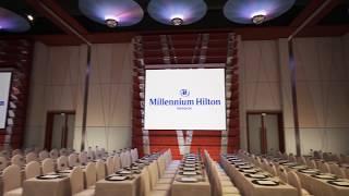 Grand Ballroom - Classroom Setup at Millennium Hilton Bangkok
