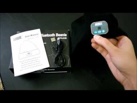 78f1b797f13 August EPA20 - Bluetooth Cap - Winter Beanie Hat with Bluetooth Stereo  Headphones