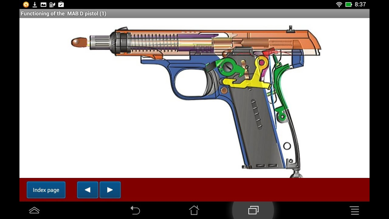 French MAB D pistol explained - Android APP - HLebooks com