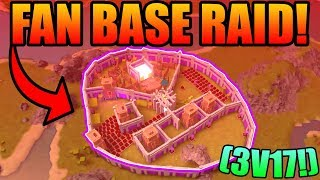 INSANE FAN BASE RAID! (3 v 17!) | ROBLOX: Booga Booga