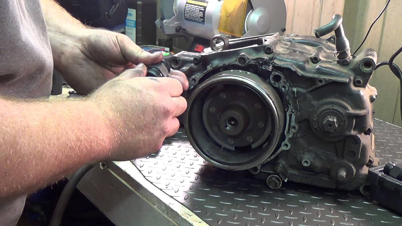 1984 Honda Xl 350 Stator Removal Youtube