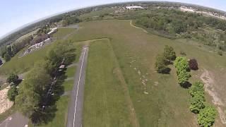 blade 350QX flying over Fort Walla Walla